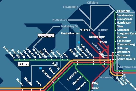 kort over tognet